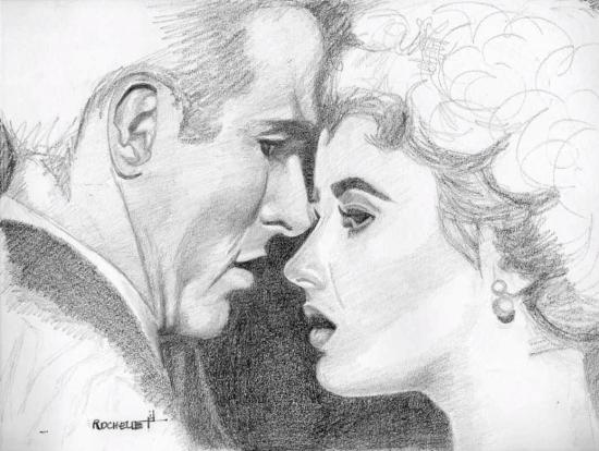 Elizabeth Taylor, Montgomery Clift par Rochelle
